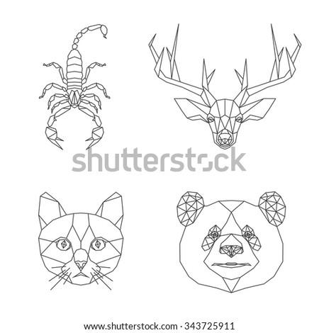 vector polygonal animal