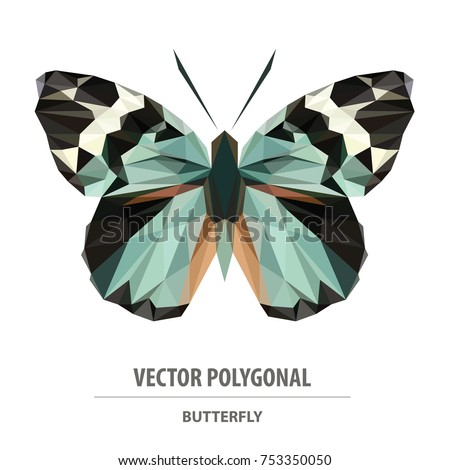 vector polygonal butterfly