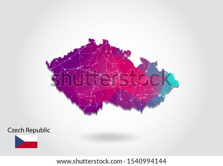 vector polygonal czech republic