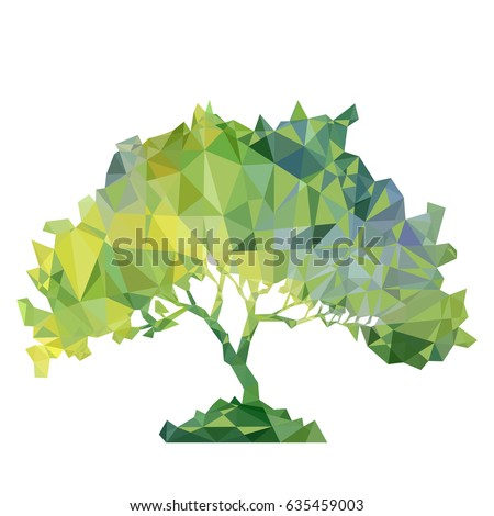 vector polygonal silhouette of