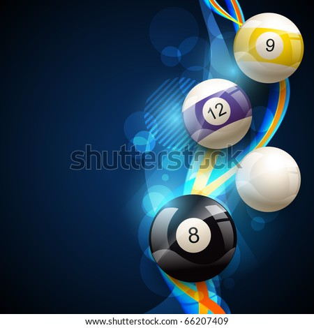 vector pool balls on blue