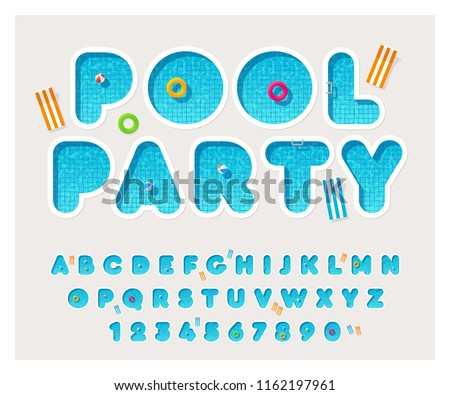 vector pool font rounded