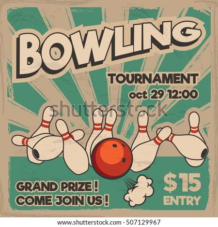 vector pop art bowling...