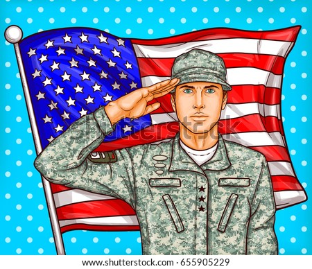 vector pop art patriotic
