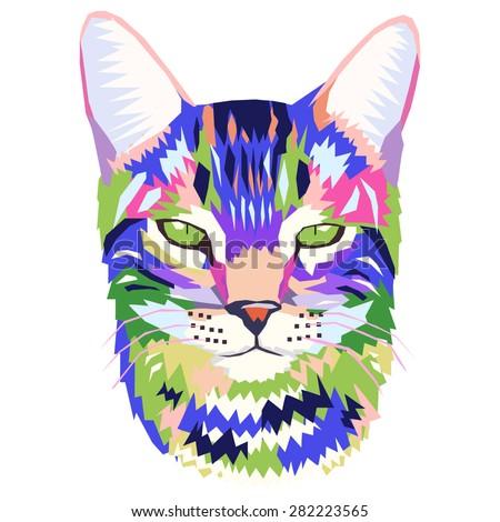vector pop art portrait of a cat ez canvas