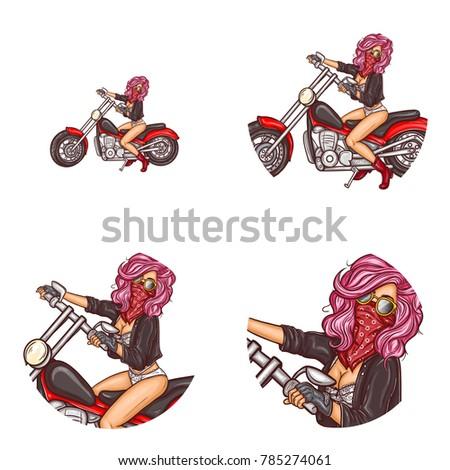 vector pop art round avatar