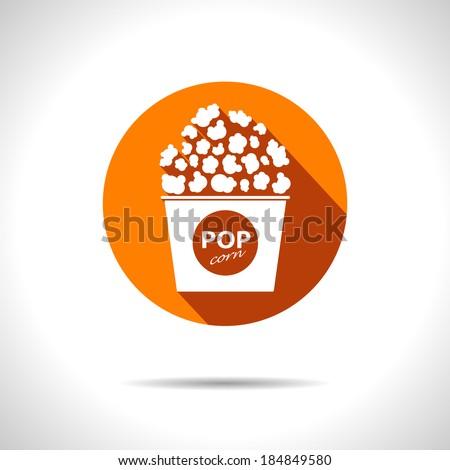 vector popcorn icon eps10