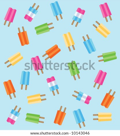 vector popsicle background
