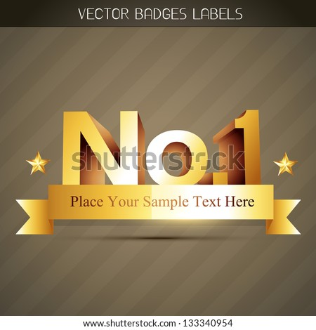 vector popular no 1 label