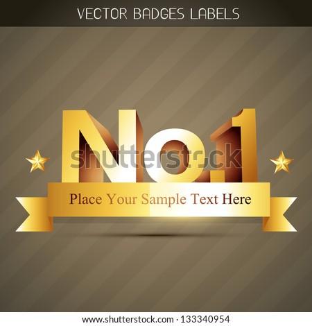 vector popular no. 1 label style design Сток-фото ©