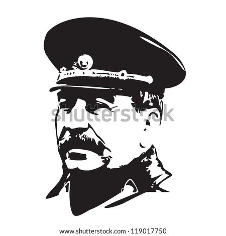 Vector portrait of Joseph Stalin in black and white Stock photo ©