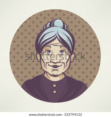 vector portrait of lovely