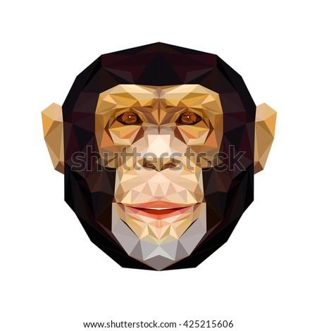 vector portrait of monkey