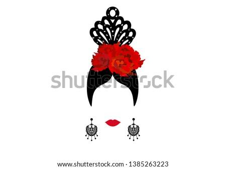 755d14944 Cabelo vermelho e bela menina vintage vetor dançando - Download ...