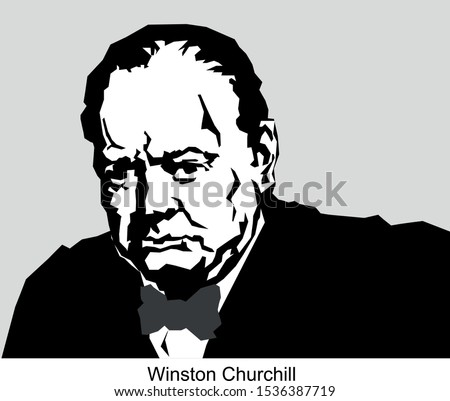 Vector Portrait of  winston churchill