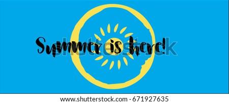 vector positive summer banner