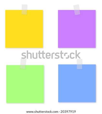 vector post note with white background
