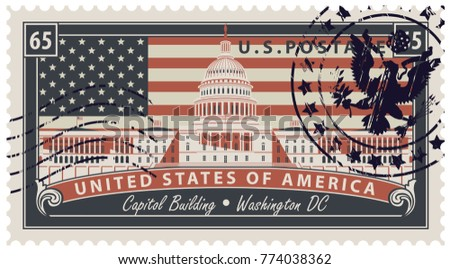 vector postage stamp with...