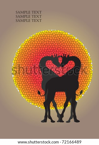 vector postcardgiraffes at