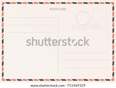 Vector postcard. Postal card illustration for design