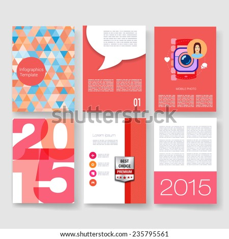 infographic brochure template - vector poster design templates collection applications