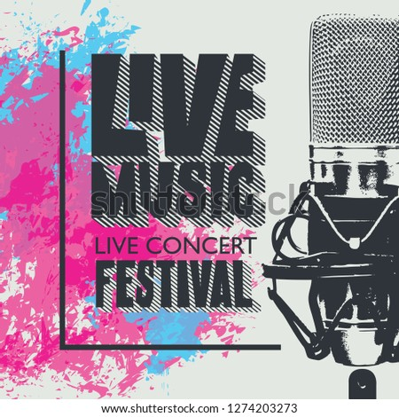 vector poster for a live music
