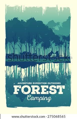 vector poster landscape forest