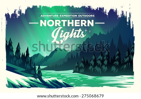 vector poster landscape with