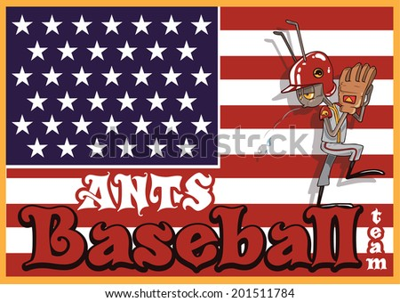 vector poster of baseball ant
