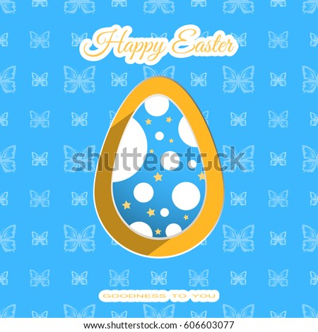 vector poster of blue easter
