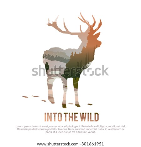 vector poster on themes  wild