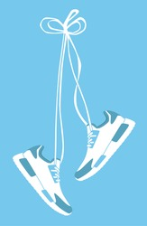 Vector poster - running and sport
