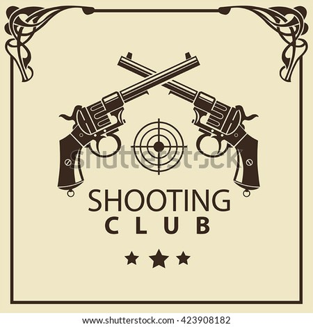 vector poster shooting club