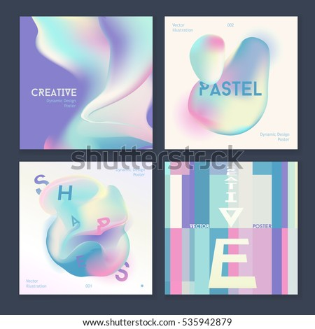Vector Poster Templates with Paint Splash. Abstract Background for Business Posters and Placards. Mobile Technologies Concept. Flat Style. Liquid art
