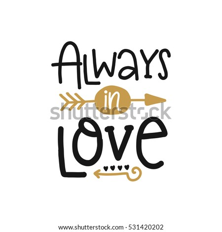 vector poster with phrase and