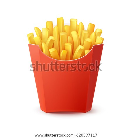 vector potatoes french fries in