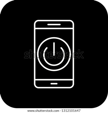 Vector Power off Mobile Application Icon #1312101647