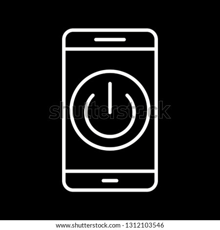 Vector Power off Mobile Application Icon #1312103546