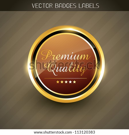 vector premium quality golden label