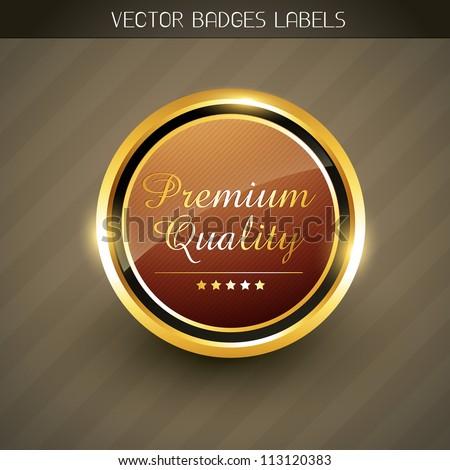 vector premium quality golden label