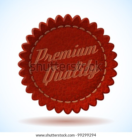 Vector Premium Quality Leather Badge