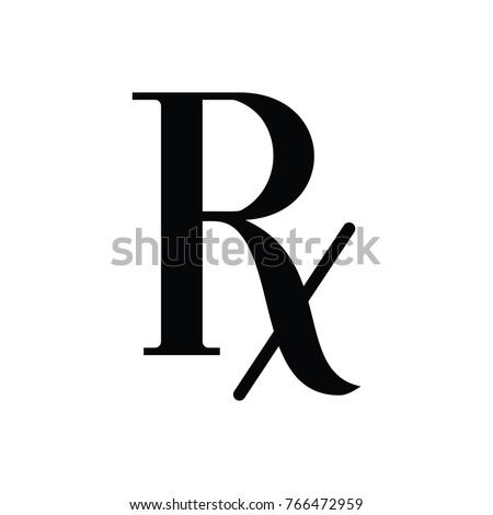 Vector Prescription - symbol of pharmacology