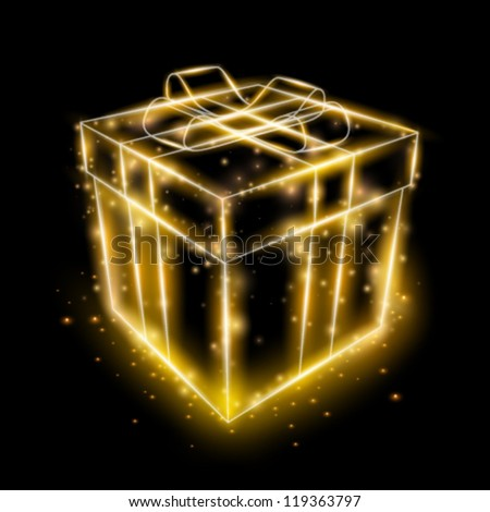 vector present box illustration
