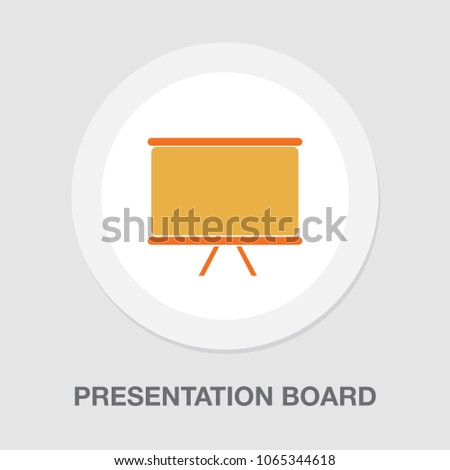 vector presentation board icon, education icon