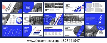 Vector Presentation Templates. Infographic elements for use in Presentation, Flyer and Leaflet, SEO, Marketing, Webinar Landing Page Template, Website Design, Banner.