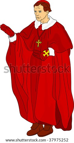 vector - Priest Cardinal isolated on background