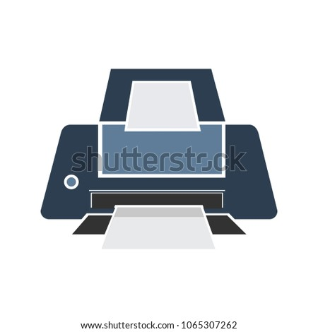 Vector Print icon, Printing button - printing sign and symbol, document print