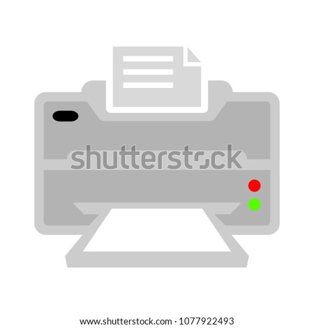 Vector Print icon - printing sign and symbol, document print button