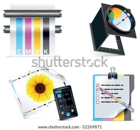 Vector print shop icon set. Part 5