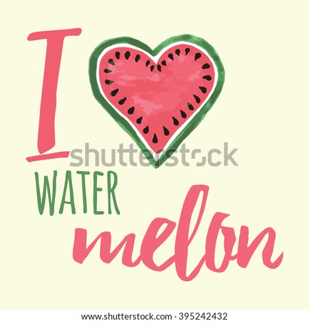 vector print with watermelon